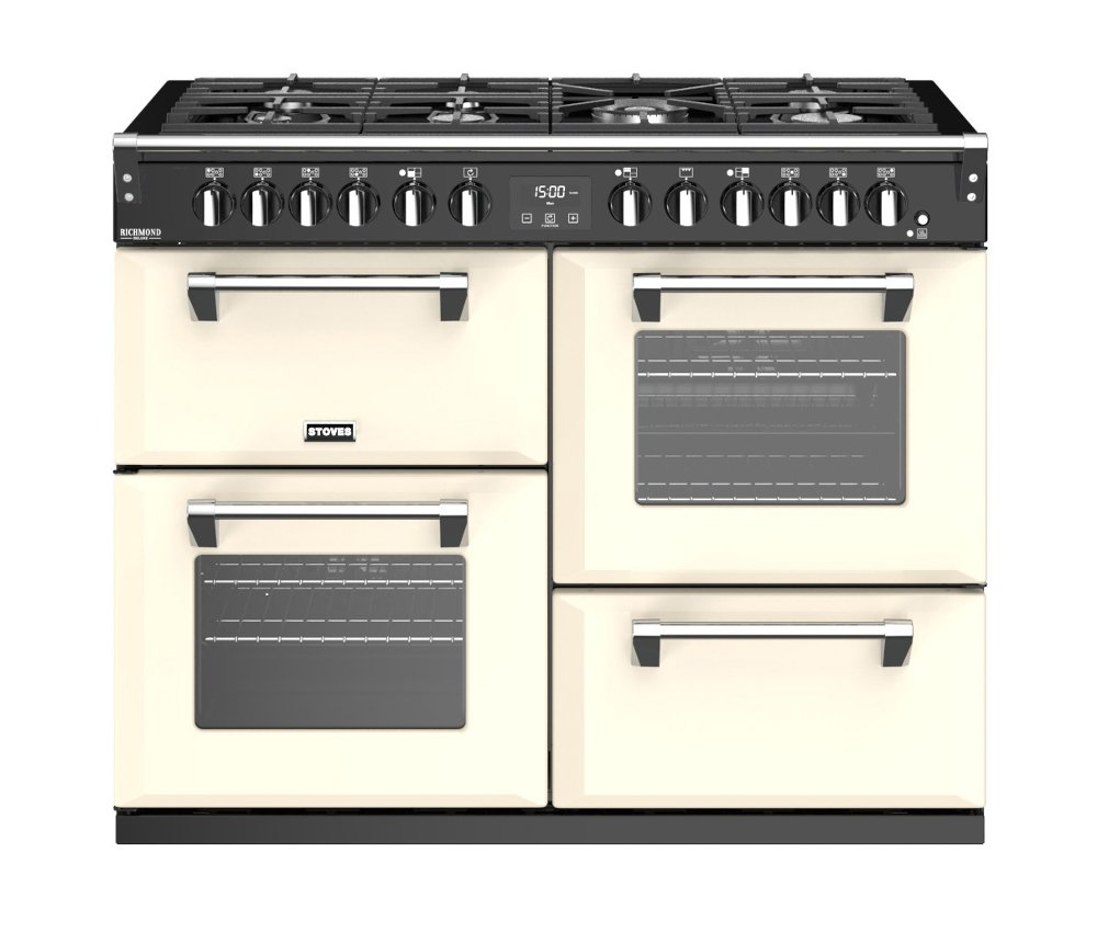 Stoves Richmond Deluxe S1100DF Classic Cream 110cm Dual Fuel Range Cooker
