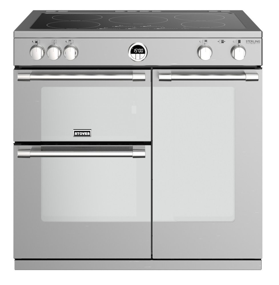 Stoves Sterling Deluxe S900Ei Stainless Steel 90cm Electric Induction Range Cooker