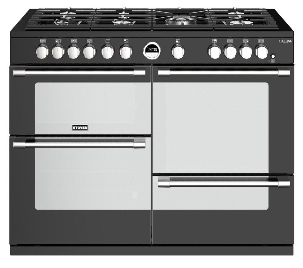 Stoves Sterling Deluxe S1100G Black 110cm Gas Range Cooker