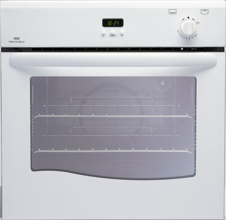 Built In Single Gas Oven Part - 18: New World 60G White Single Built In Gas Oven