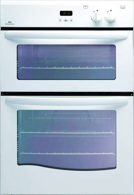 Attractive Gas Oven And Grill Part - 13: New World 90G White Built In Gas Oven Separate Grill