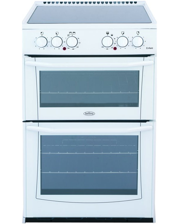 Belling Enfield E552 White Ceramic Electric Cooker with Double Oven