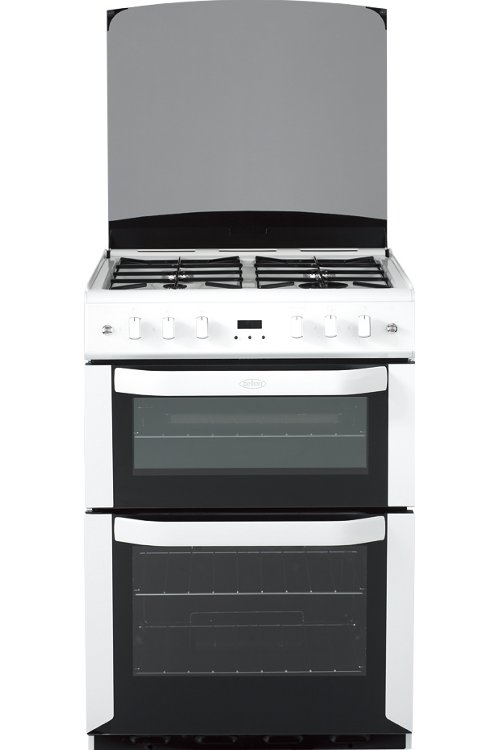 Belling FSG60DOP White Gas Cooker with Double Oven