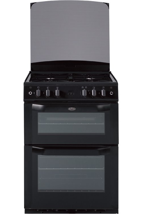 Belling FSG60DOP Black Gas Cooker with Double Oven