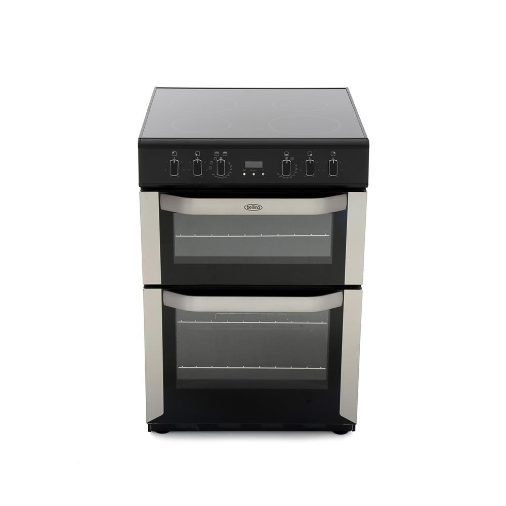 Belling FSE60DOP Stainless Steel Ceramic Electric Cooker with Double Oven