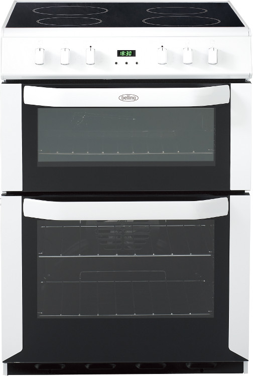 Belling FSE60DOP White Ceramic Electric Cooker with Double Oven