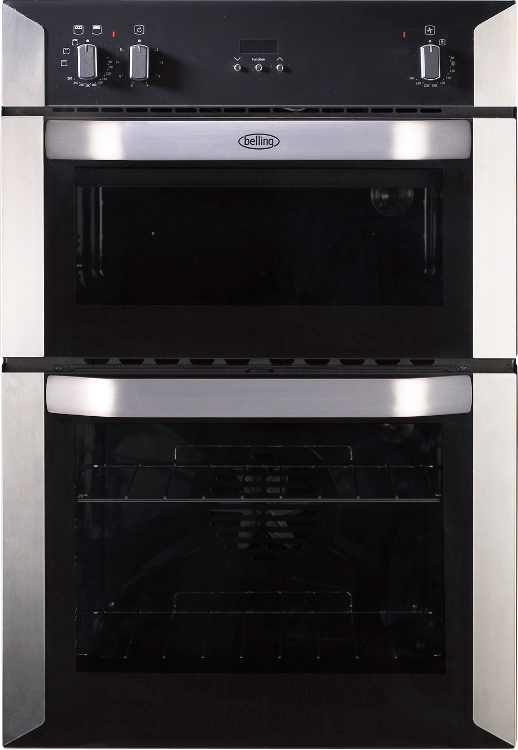 Belling BI90FP Stainless Steel Double Built In Electric Oven