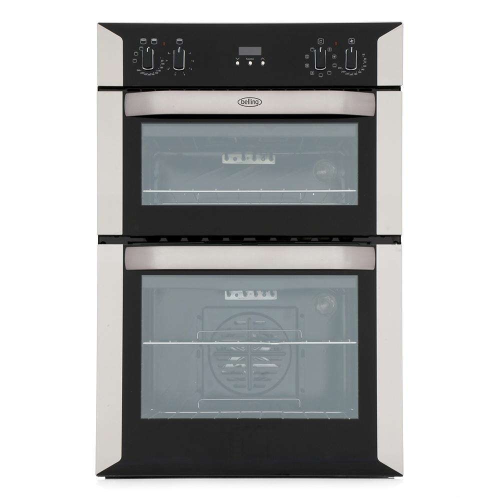 Belling BI90MF Stainless Steel Double Built In Electric Oven