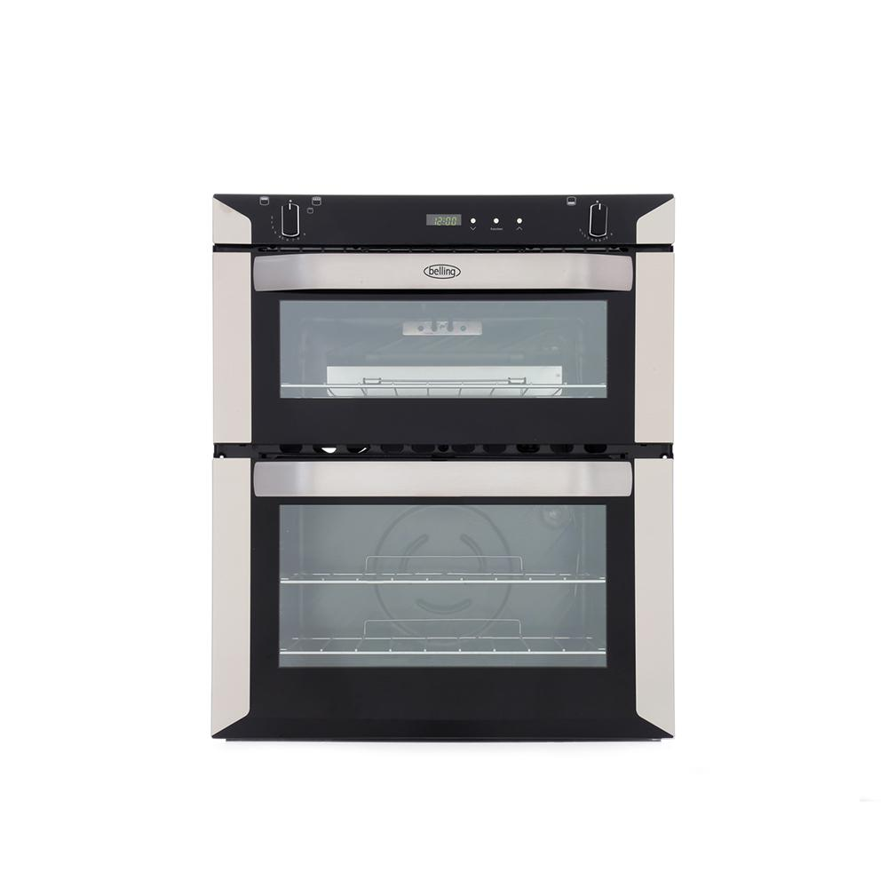 Belling BI70G Stainless Steel Double Built Under Gas Oven