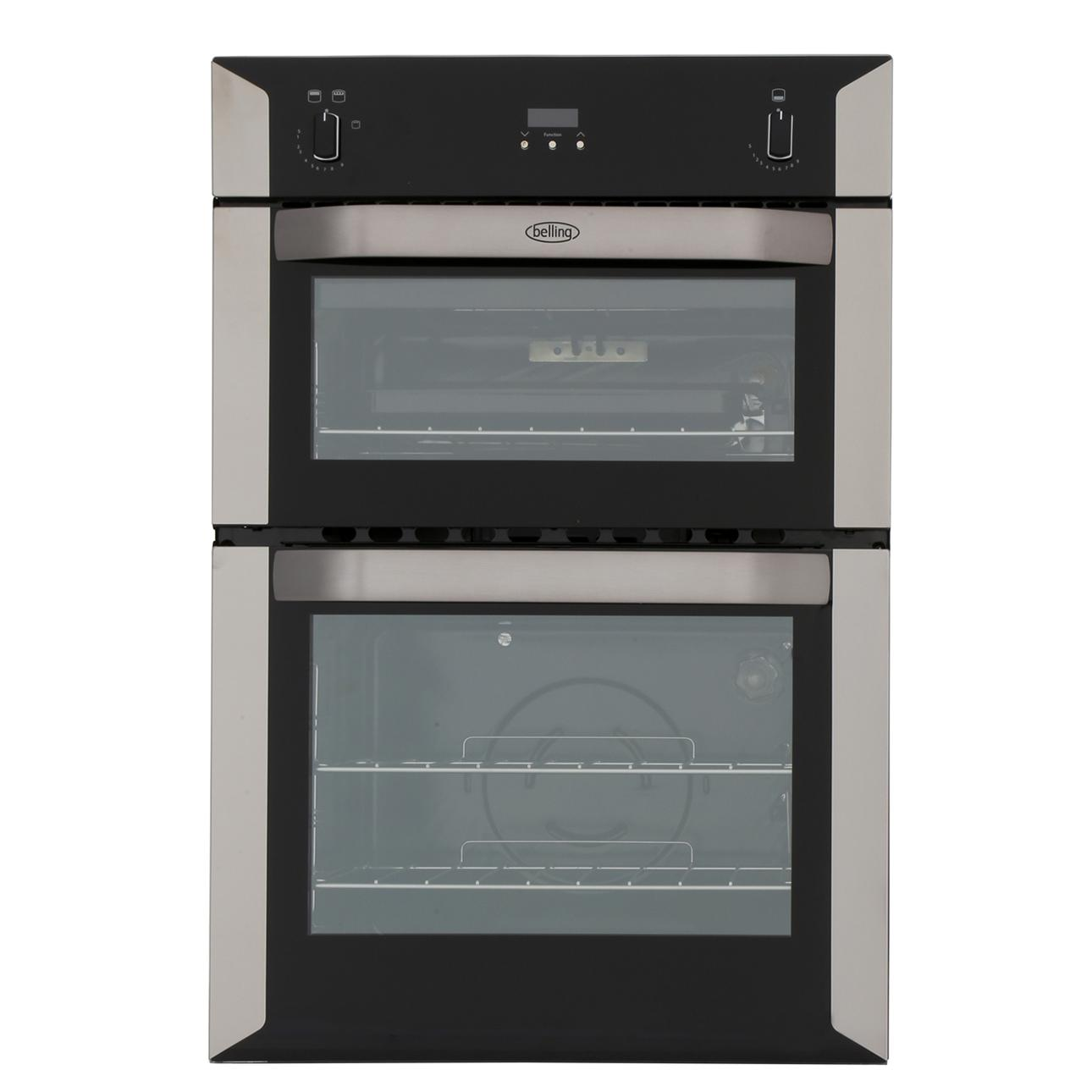 Belling BI90G Stainless Steel Double Built In Gas Oven