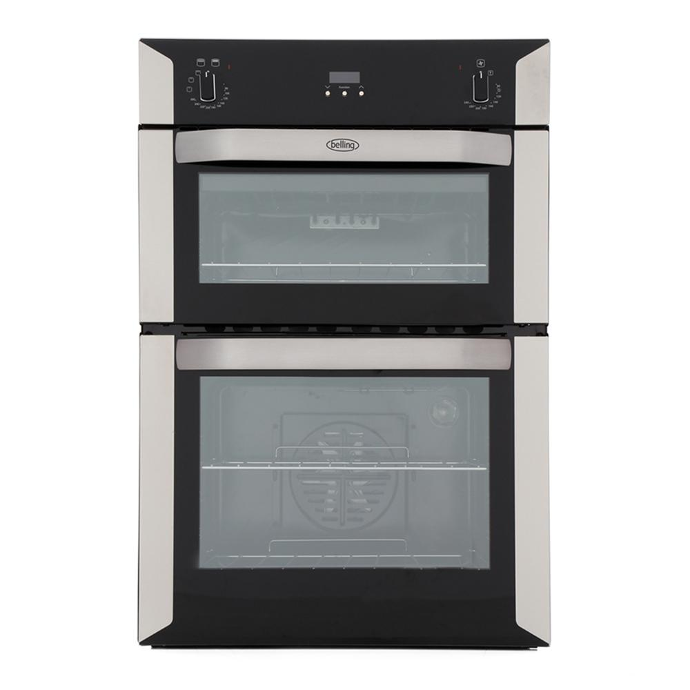 buy belling bi90f stainless steel double built in electric oven rh markselectrical co uk Belling Appliances belling gas oven installation instructions