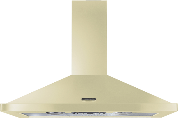 Rangemaster LEIHDC100CR/C Cream with Chrome Trim 100cm Chimney Hood
