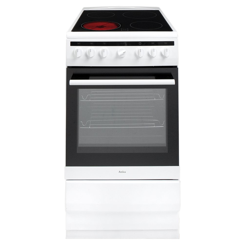 Amica 508CE2MSW Ceramic Electric Cooker with Single Oven