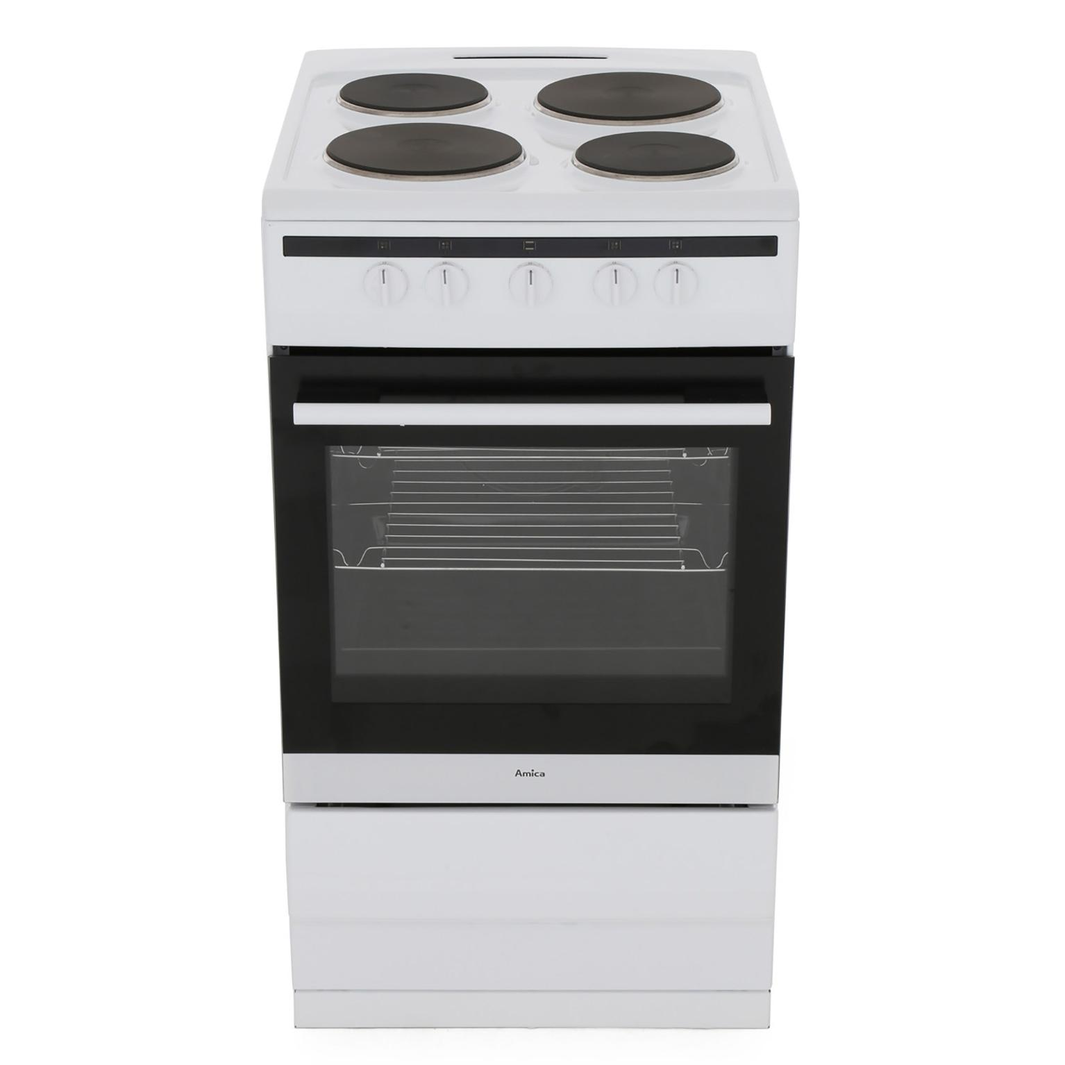 Amica 508EE1W Electric Cooker with Single Oven