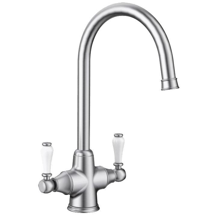 Blanco Vicus Twin Lever Chrome Traditional Tap
