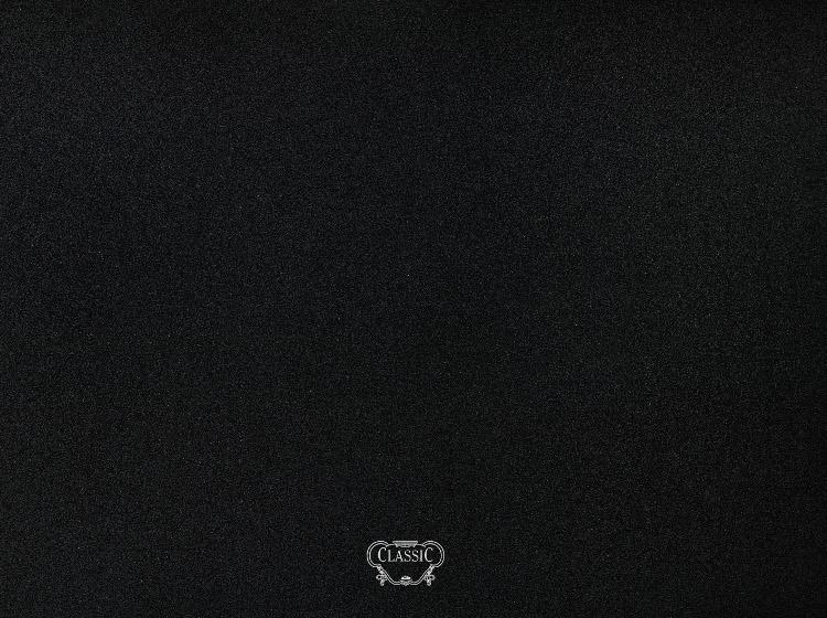 Rangemaster CLASP110BB Classic Black with Brass Logo 110cm Splashback