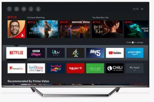 "Hisense 65U7QFTUK 65"" ULED 4K Smart Television"