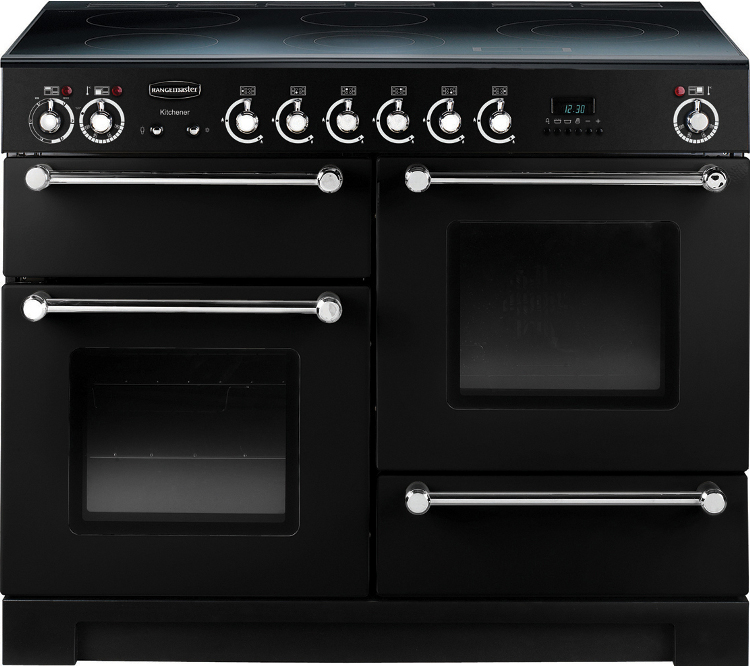 Buy Rangemaster Kch110ecbl C Kitchener Gloss Black With