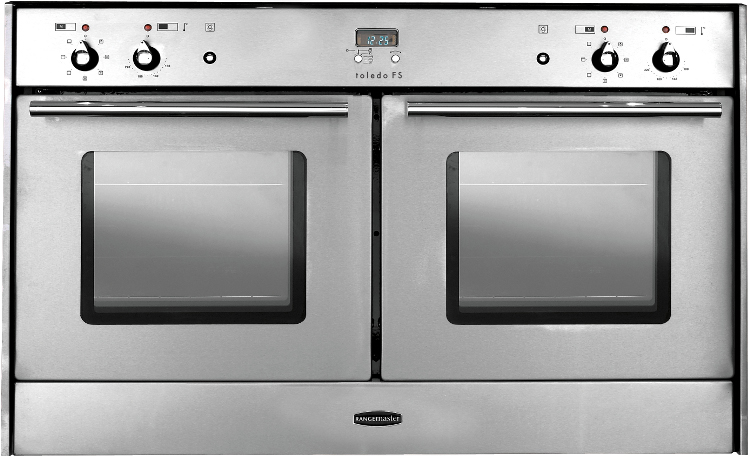 Built In Double Ovens Part - 37: Rangemaster Toledo Freestyle Double Oven Stainless Steel With Chrome Trim  Built In Range Cooker