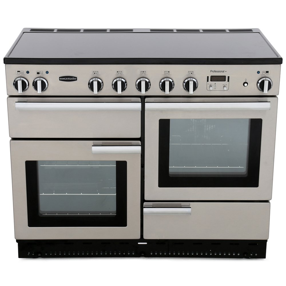 Rangemaster PROP110EISS/C Professional Plus Stainless Steel with Chrome Trim 110cm Electric Induction Range Cooker