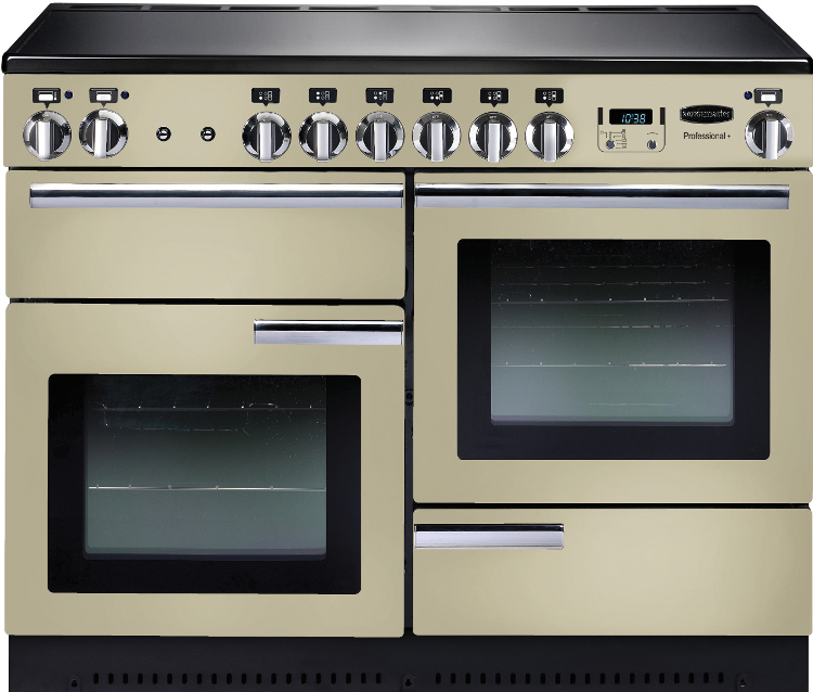 Rangemaster PROP110EICR/C Professional Plus Cream with Chrome Trim 110cm Electric Induction Range Cooker