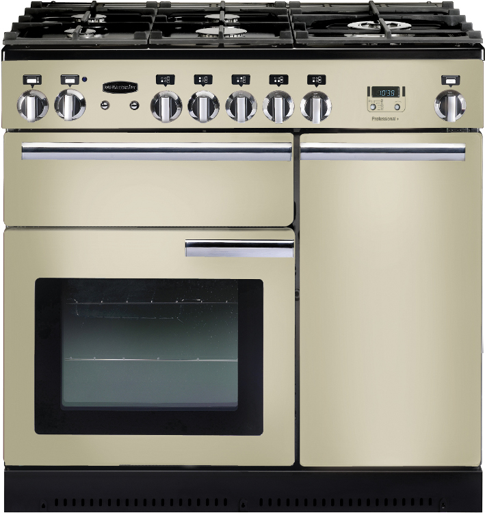 Rangemaster PROP90NGFCR/C Professional Plus Cream with Chrome Trim 90cm Gas Range Cooker