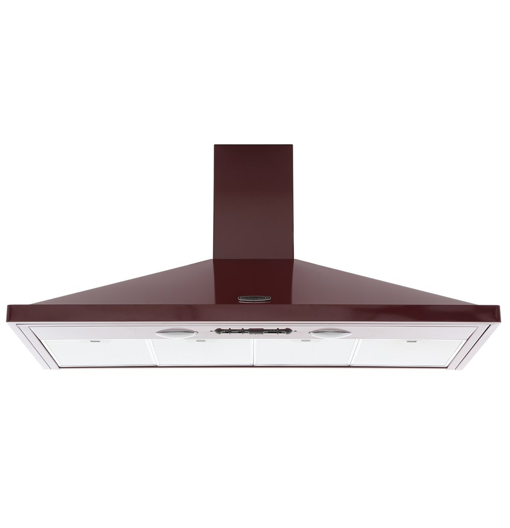 Rangemaster LEIHDC110CY/C Cranberry with Chrome Trim 110cm Chimney Hood