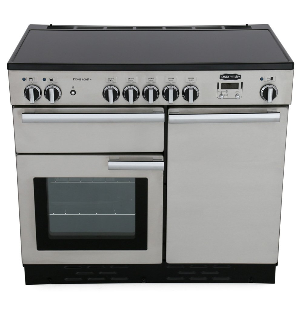 Rangemaster PROP100EISS/C Professional Plus Stainless Steel with Chrome Trim 100cm Electric Induction Range Cooker