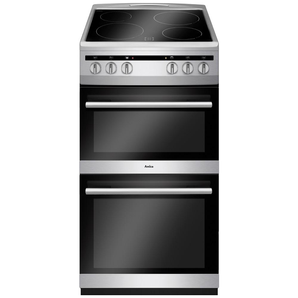 Amica AFC5100SI Ceramic Electric Cooker Separate Grill