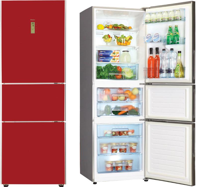 Haier Afd626tgr Fridge Freezer Red Glass Buy Online