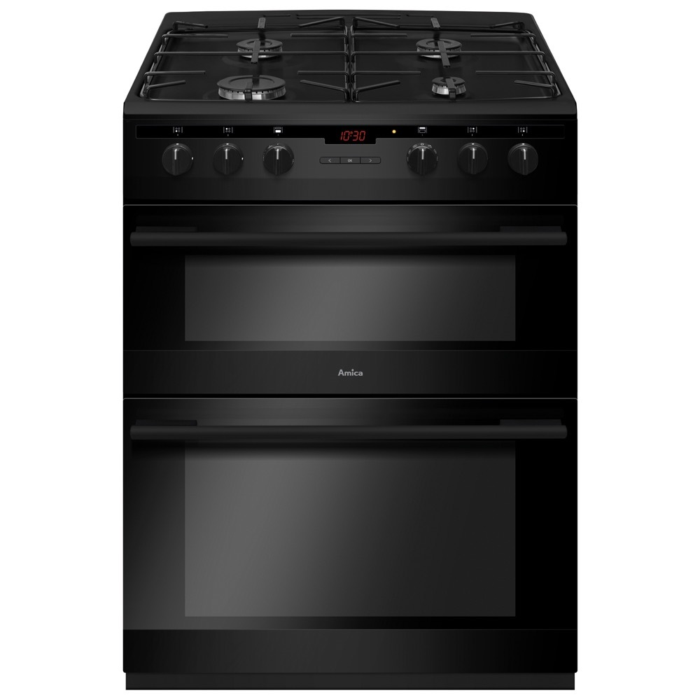 Amica AFG6450BL Gas Cooker with Double Oven