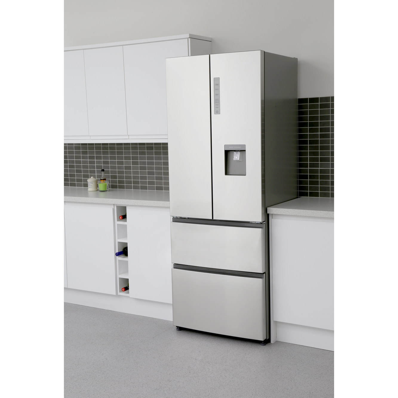 American Fridge Freezer With Drawers Part - 47: Haier B3FE742CMJW American Fridge Freezer
