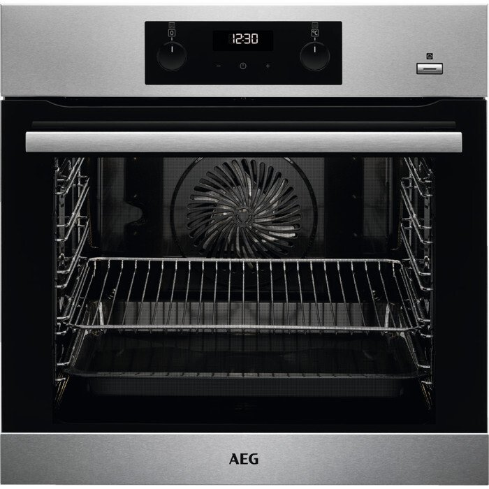 AEG BES355010M SteamBake Single Built In Electric Oven