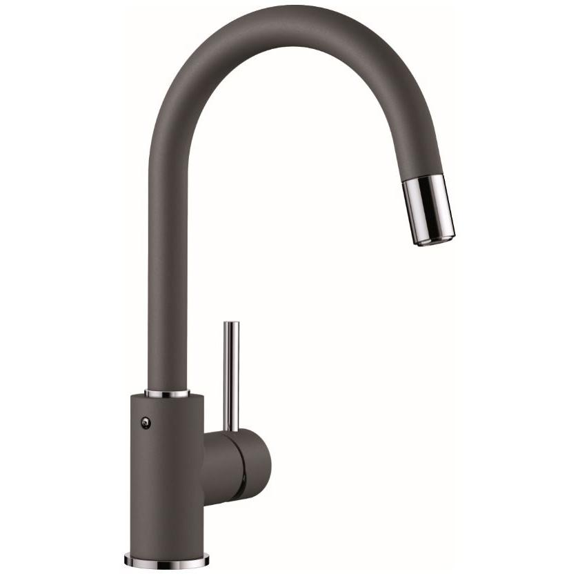 Blanco Mida-S Chrome Rock Grey Mixer Tap