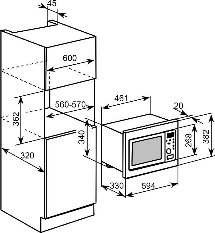 Buy Baumatic BMM204SS Built In Microwave Stainless Steel