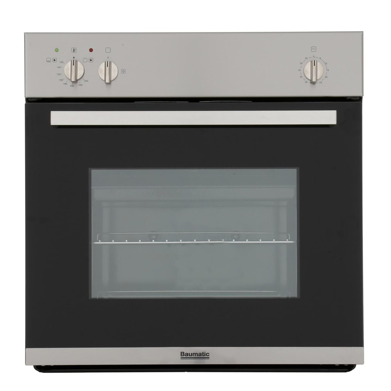 Baumatic Vantage BO610.5SS Stainless Steel Single Built In Gas Oven