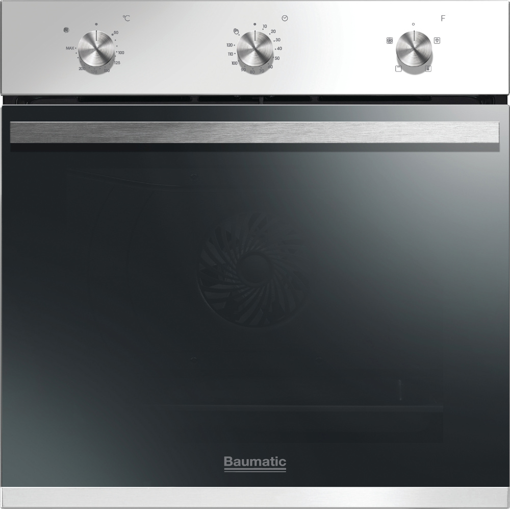 Baumatic Vantage BOFM604W White Single Built In Electric Oven
