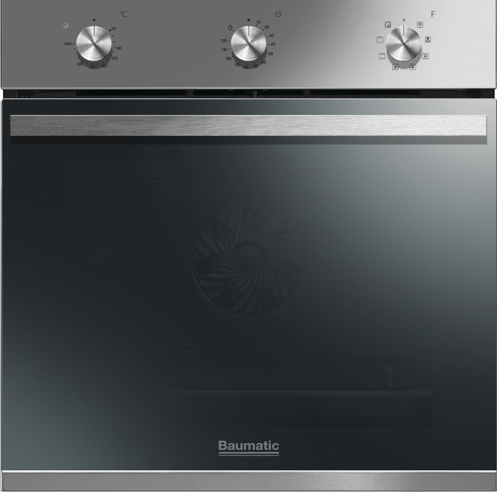 Baumatic Vantage BOMM608X Stainless Steel Single Built In Electric Oven