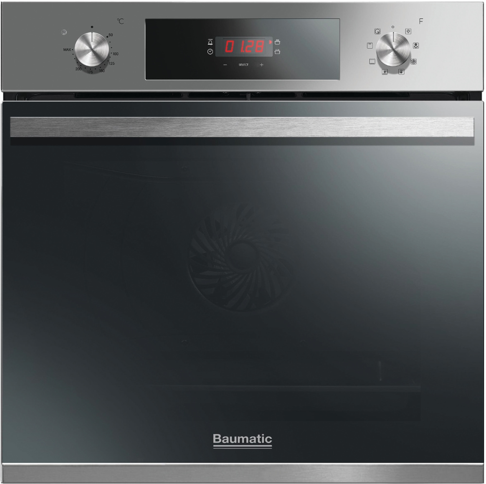 Baumatic Vantage BOMT608X Stainless Steel Single Built In Electric Oven