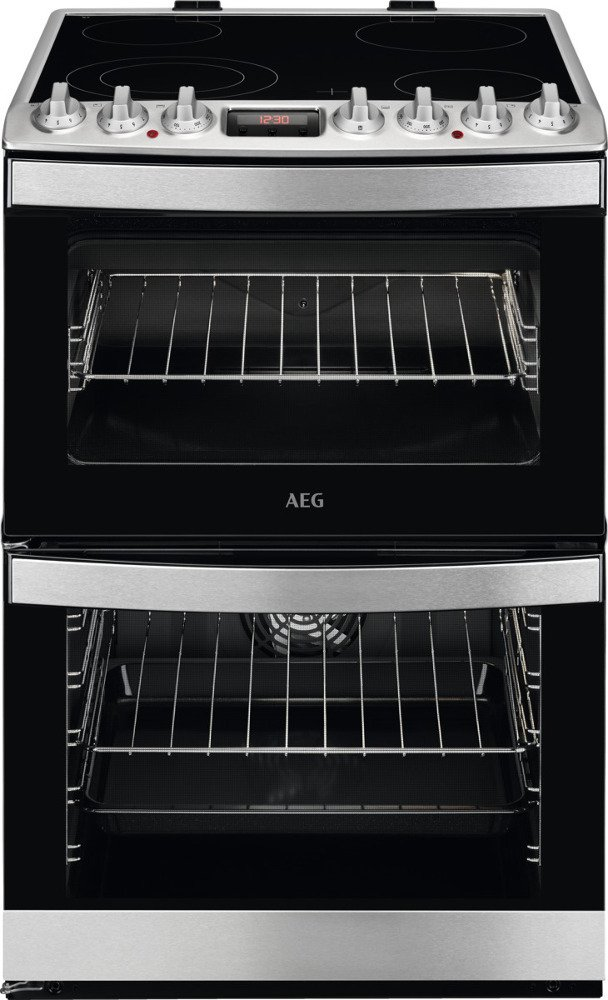 AEG CCB6740ACM SteamBake Ceramic Electric Cooker with Double Oven