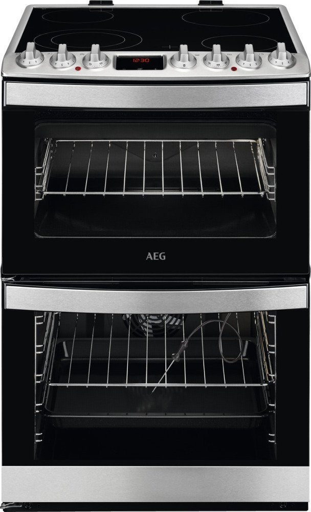 AEG CCB6760ACM SteamBake Ceramic Electric Cooker with Double Oven