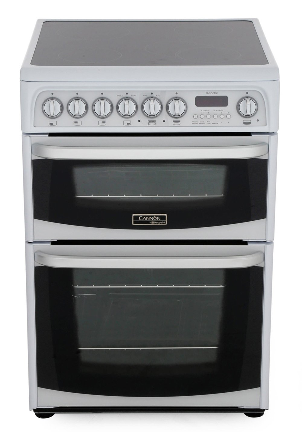 Cannon Kendal CH60EKWS Ceramic Electric Cooker with Double Oven