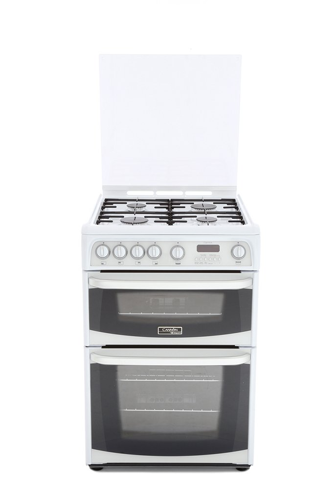 Cannon Carrick CH60GCIW Gas Cooker with Double Oven