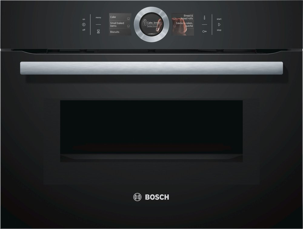 Bosch Serie 8 CMG656BB6B Built In Combination Microwave
