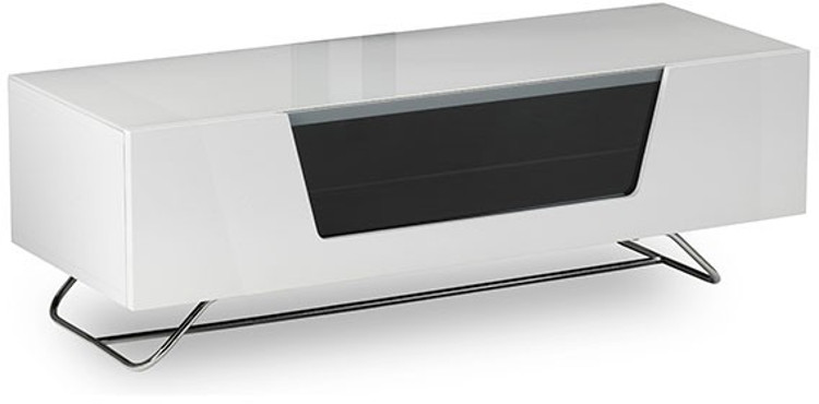 Alphason CRO21200CBWHT Chromium 2 Cantilever TV Cabinet