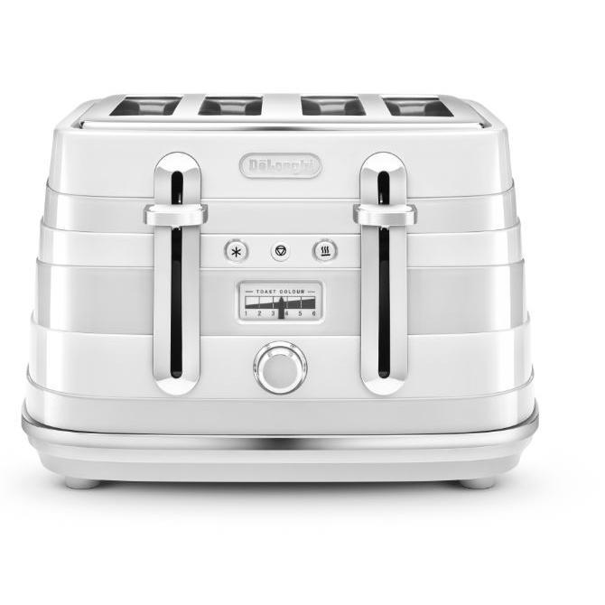 DeLonghi CTA4003.W 4 Slice Avvolta Toaster