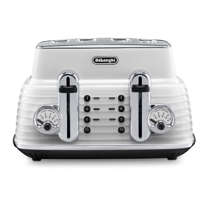 DeLonghi CTZ4003.W Scultura 4 Slice Toaster
