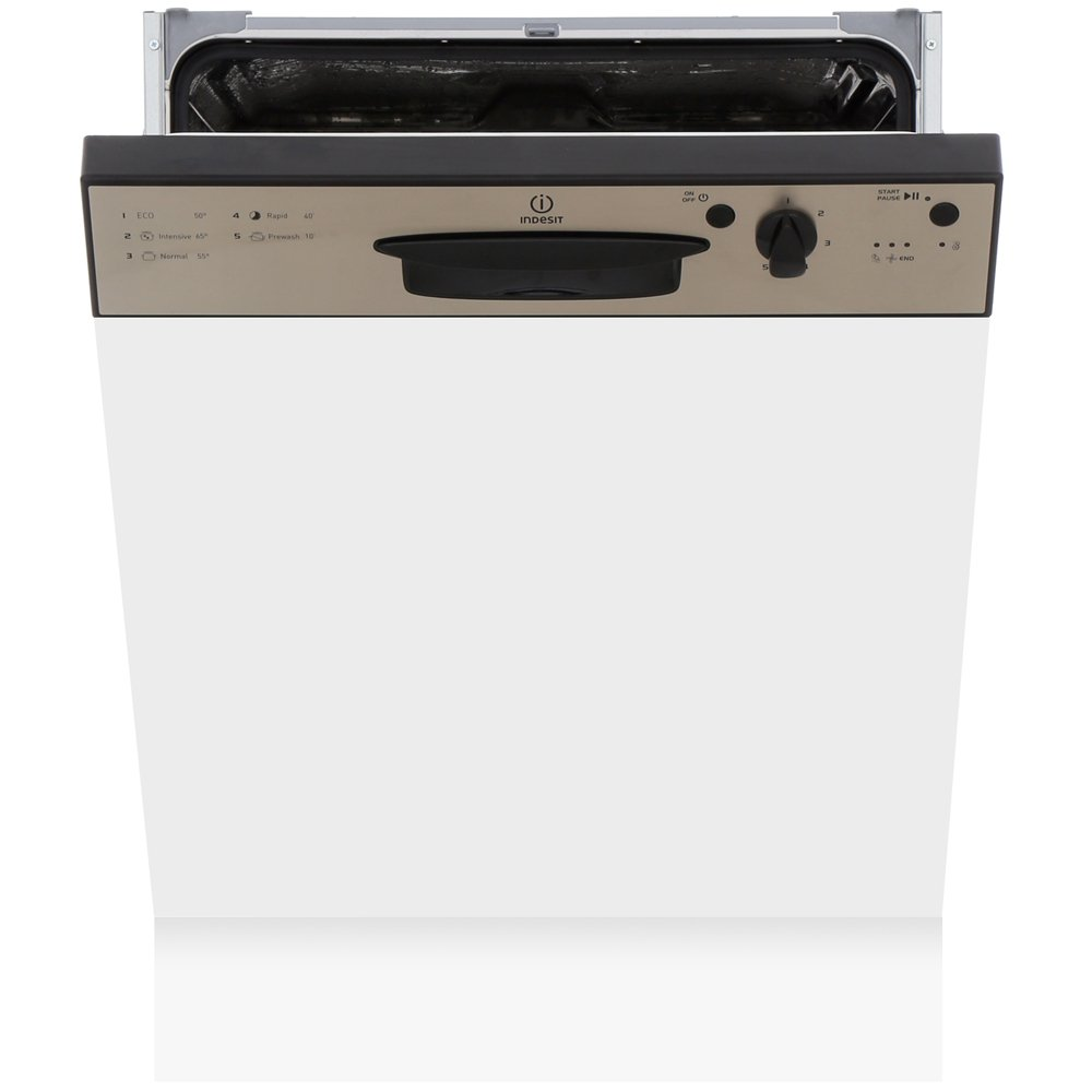 Indesit DPG15B1NX Built In Semi Integrated Dishwasher