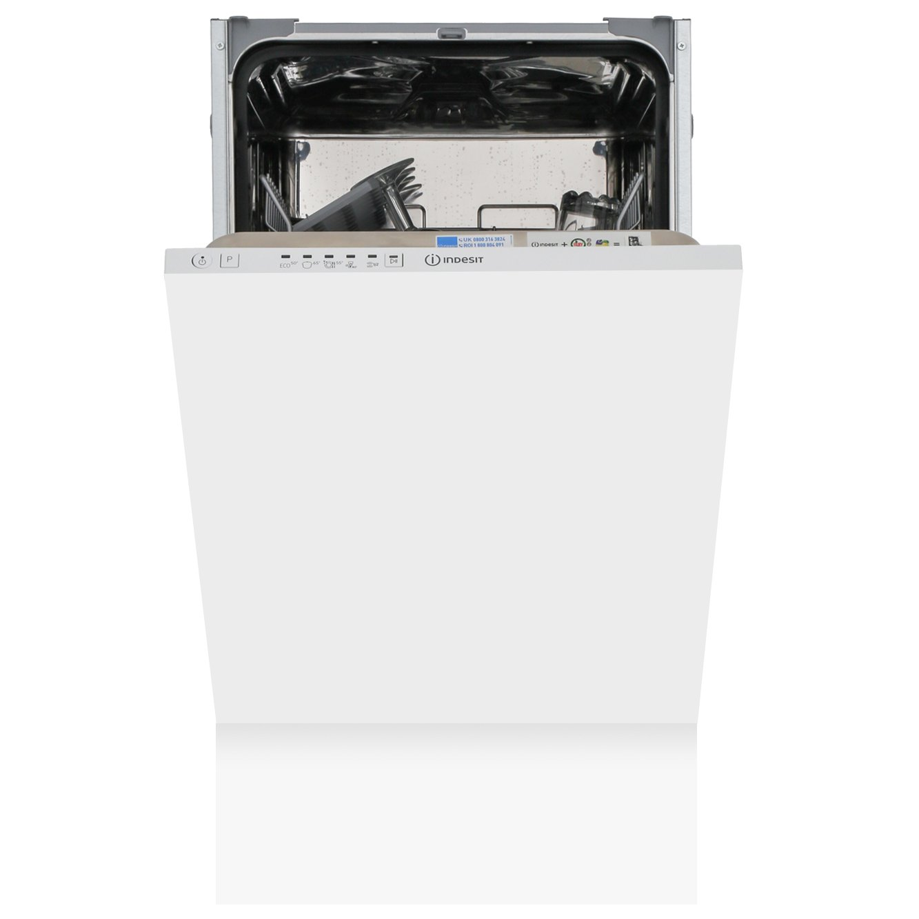 Indesit DSIE 2B10 UK Built In Fully Int. Slimline Dishwasher