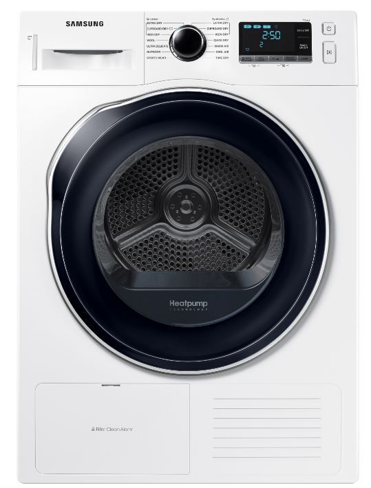 Samsung DV90K6000CW/EU Condenser Dryer with Heat Pump Technology